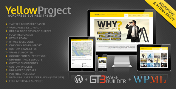 ThemeForest YellowProject Multipurpose Retina WP Theme 4066662