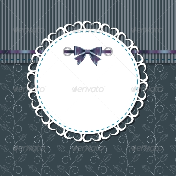 GraphicRiver Vintage Frame with Bow 4067326
