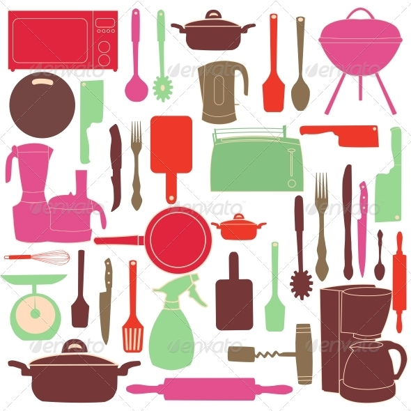 GraphicRiver Kitchen Tools for Cooking 4067330
