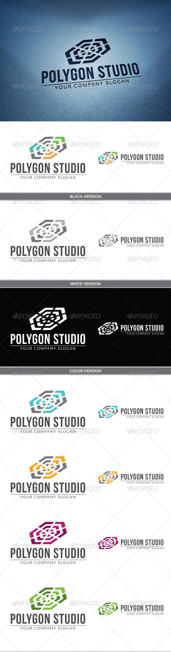 GraphicRiver Polygon Studio Logo 3995480