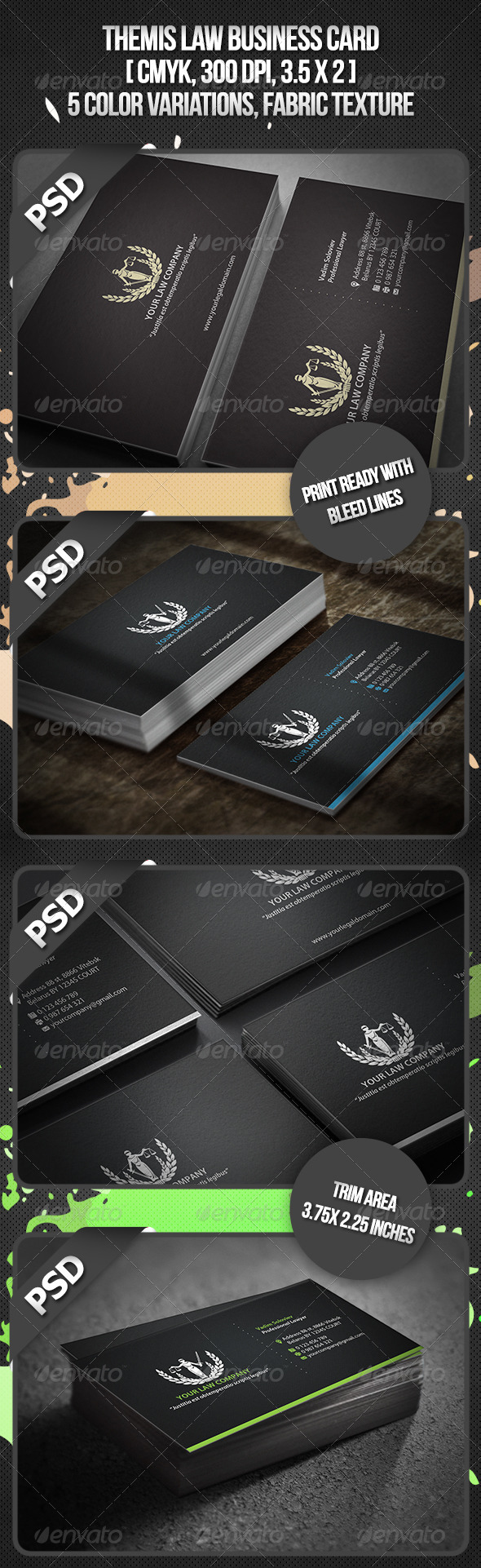 Themis Law Business Card - Business Cards Print Templates