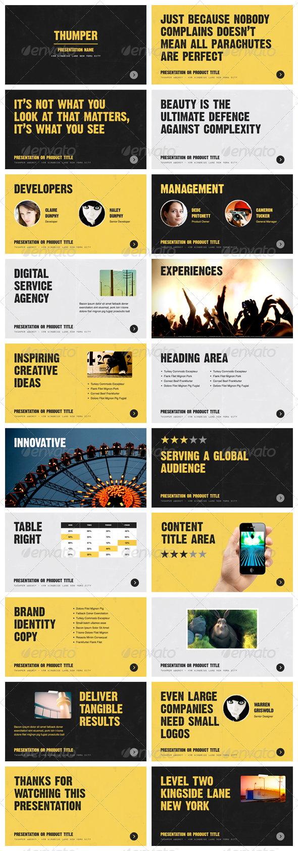 Thumper - Keynote Presentation Template - Creative Keynote Templates