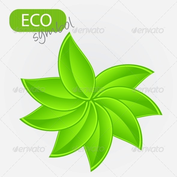 GraphicRiver Environmental Icon with Plant 4067804