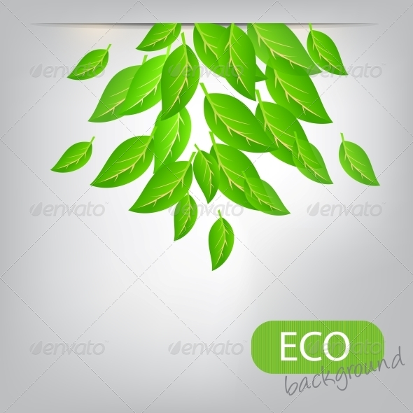 GraphicRiver Eco Leaves Background 4067852