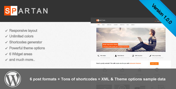 Spartan responsive wordpress theme