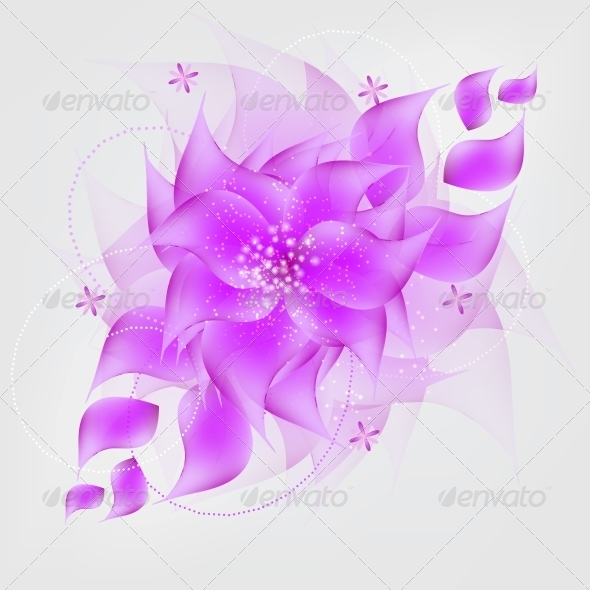 GraphicRiver Romantic Flower vector Background 4068059