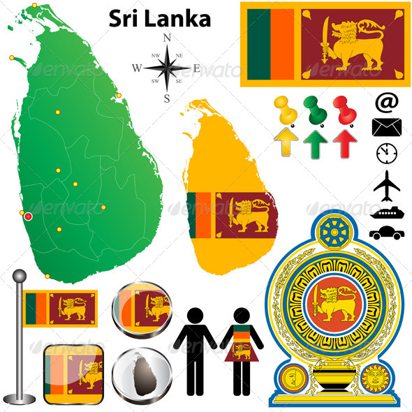 GraphicRiver Sri Lanka Map 4068067