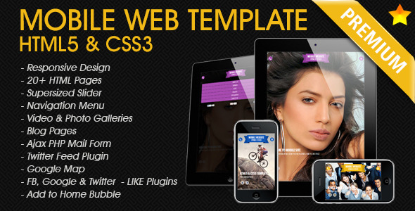 ThemeForest Premium Mobile Web Template 4068339