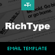 Rich Typography Email Template  Free Download