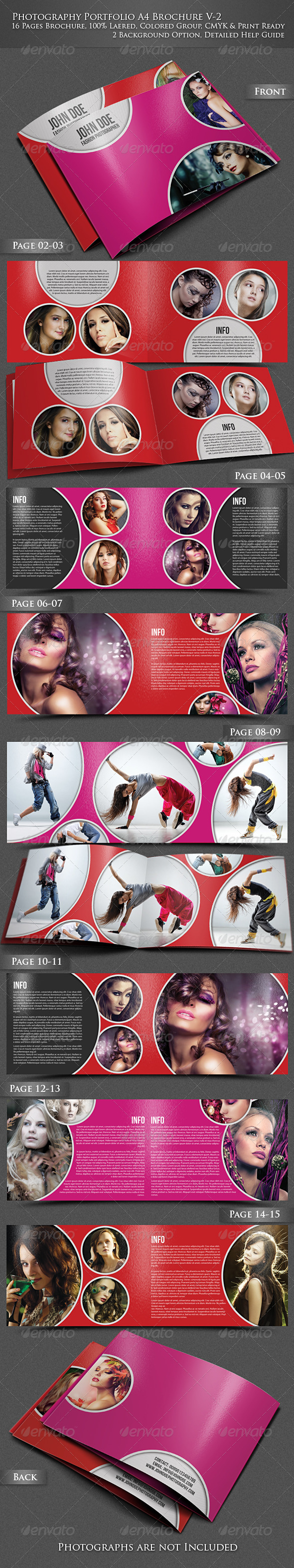 GraphicRiver Photography Portfolio A4 Brochure V2 4069802