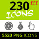 230 Rough Icons (Icons Set - Part III) - GraphicRiver Item for Sale