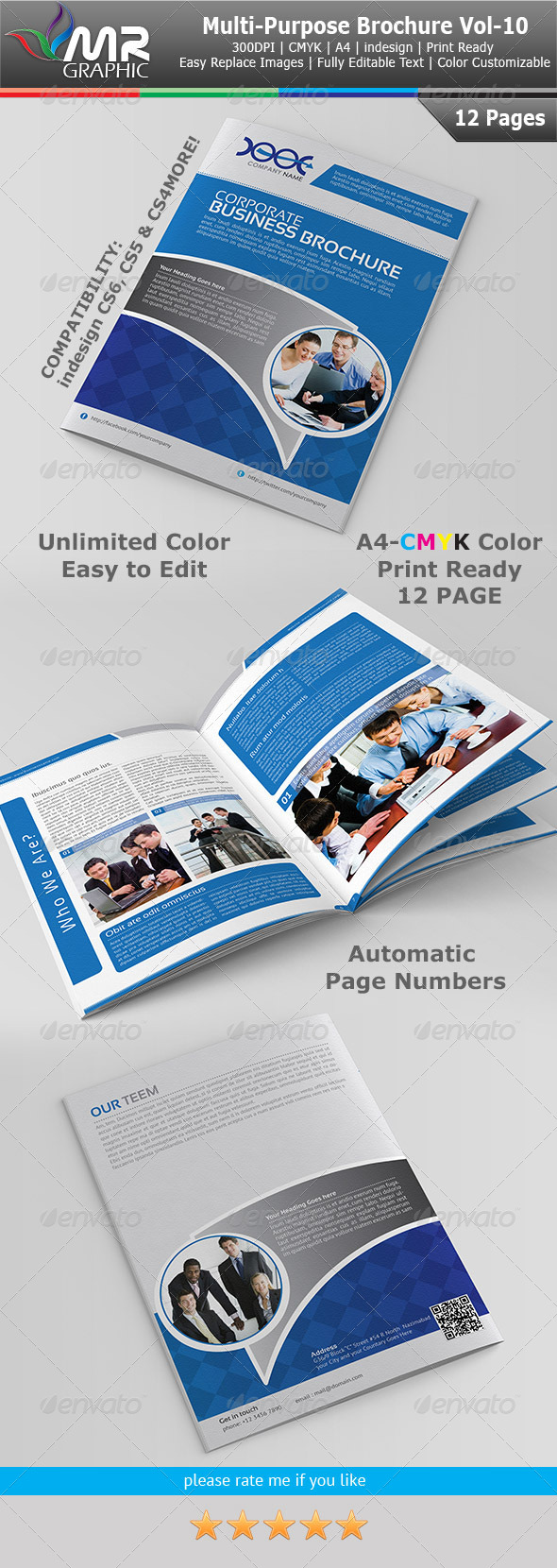 GraphicRiver Multipurpose Business Brochure Template Vol-10 4070198