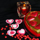 Valentine Hearts candle and candy  - PhotoDune Item for Sale