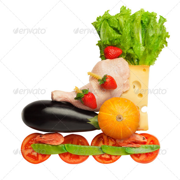 Healthy food in a healthy body: fitness as a life-style. - Stock Photo - Images