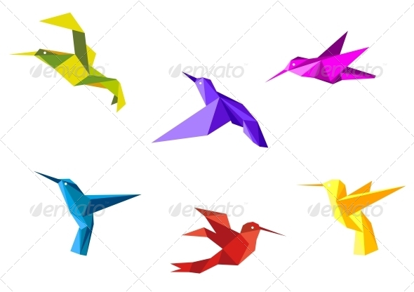 Doves and hummingbirds - Animals Characters
