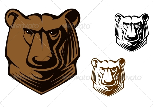 GraphicRiver Kodiak bear mascot 4071563