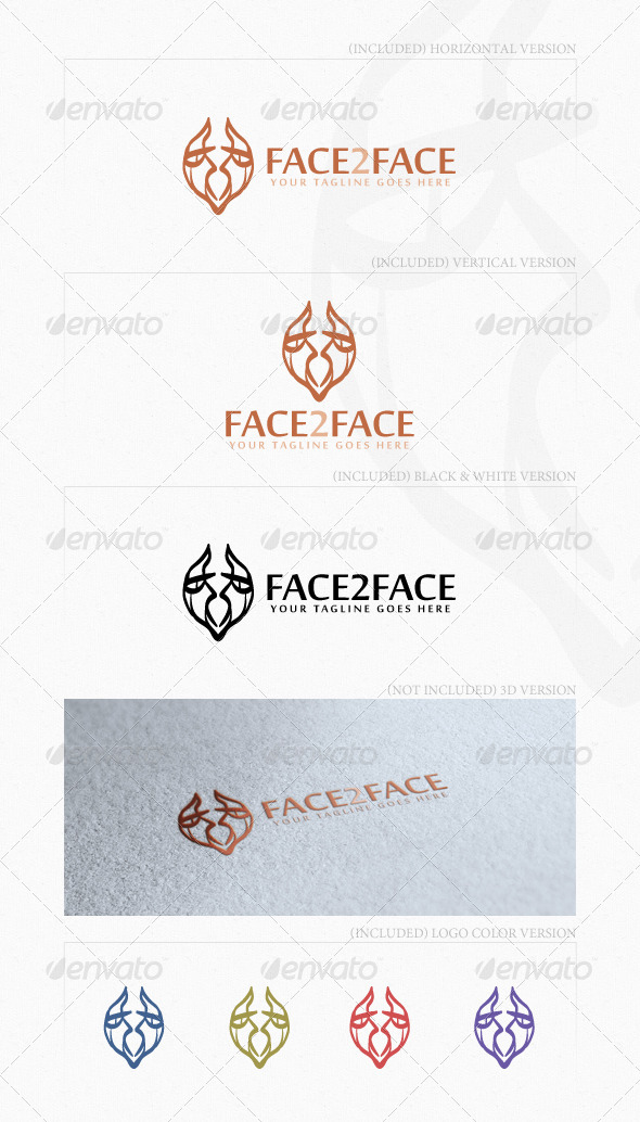 Face2Face Logo - Humans Logo Templates