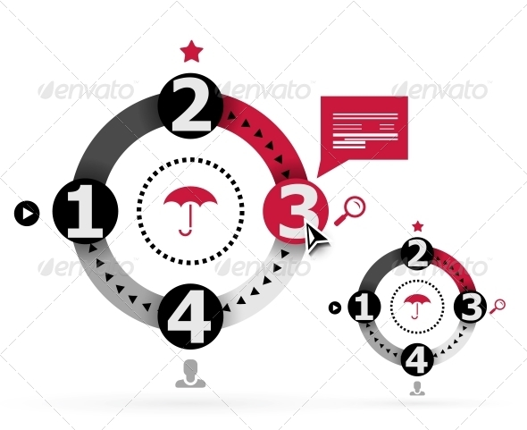 GraphicRiver Modern round infographic design template 4071627