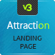 Attraction - Responsive Landing Page - ThemeForest Item for Sale