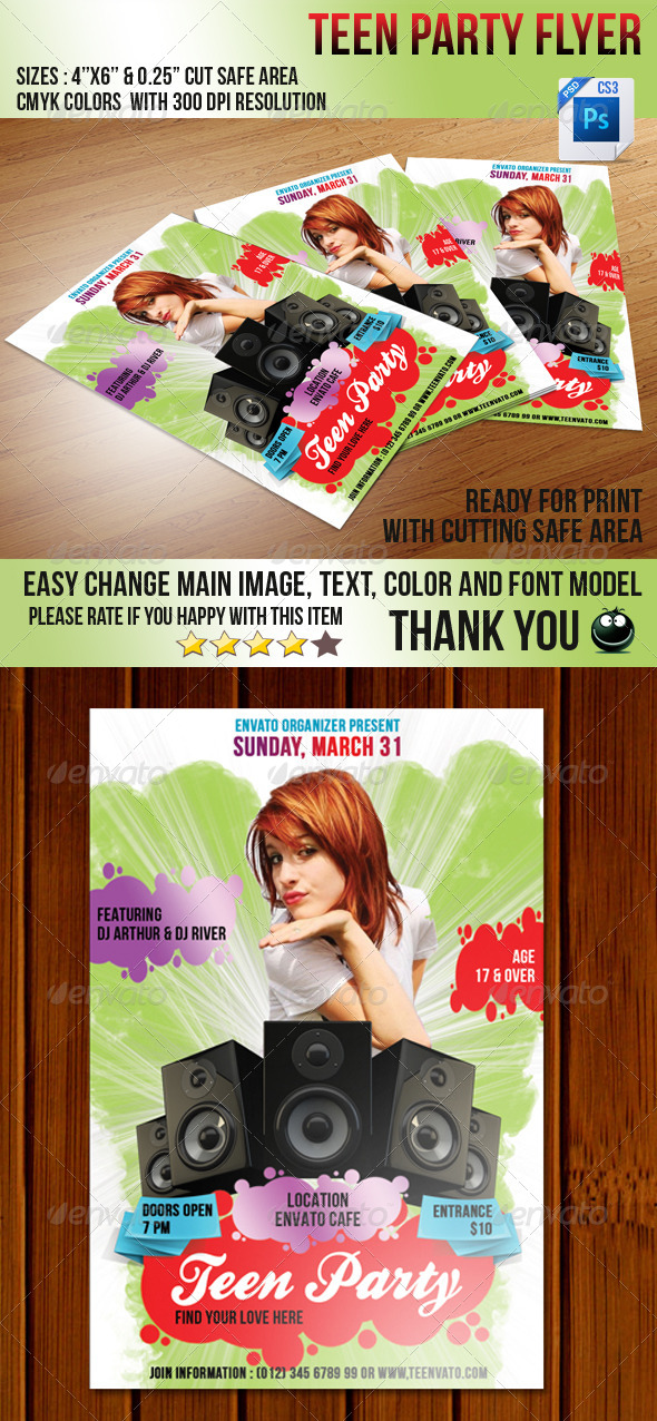 GraphicRiver Teen Love Flyer 4072744