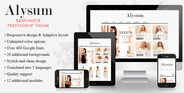 Alysum - Premium PrestaShop 1.5 Template - Shopping PrestaShop