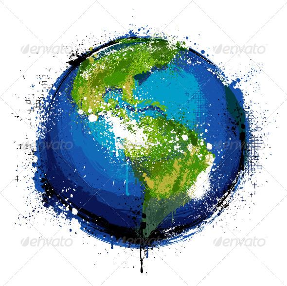 GraphicRiver Grungy Globe 4073094