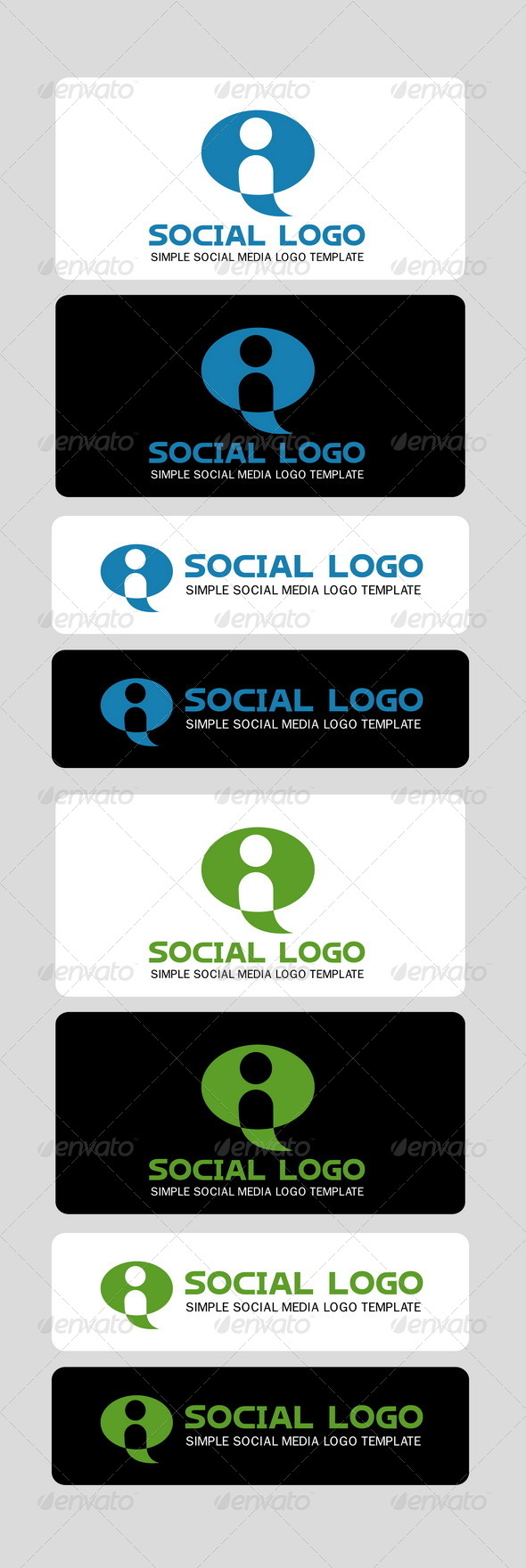 GraphicRiver Social Logo Template 3944100