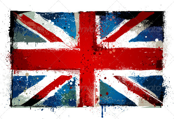 GraphicRiver Grungy UK flag 4073104
