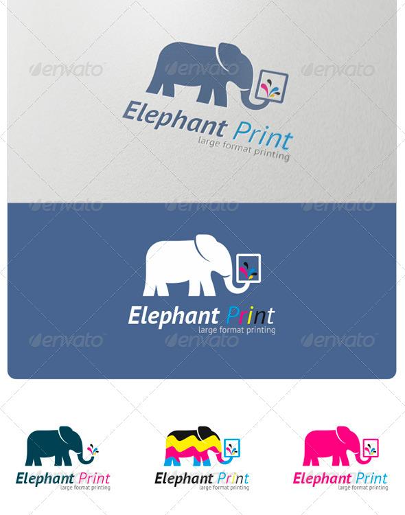 GraphicRiver Elephant Print Logo 4020827