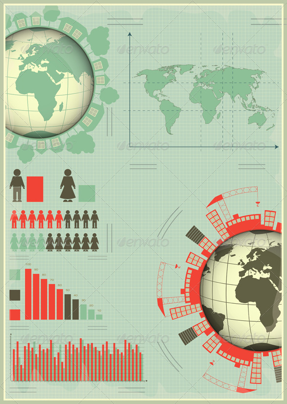 GraphicRiver Infographics Planet Earth and Construction 4073274