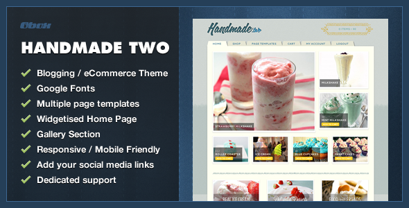 ThemeForest Handmade Two eCommerce WordPress Theme 4062864