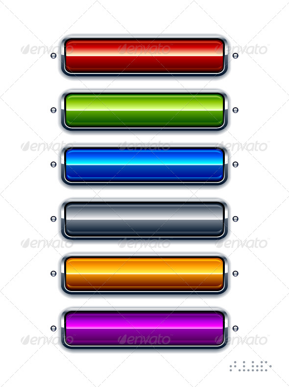 GraphicRiver Set of Glossy Buttons 4073838