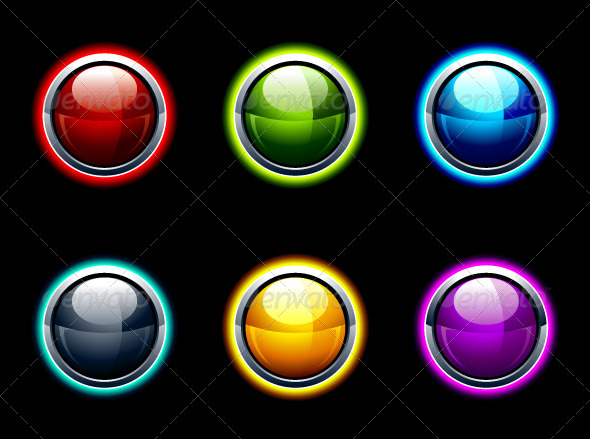 GraphicRiver Set of Glossy Buttons 4073842