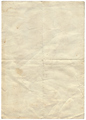 Isolated old vintage folded torn paper. - PhotoDune Item for Sale