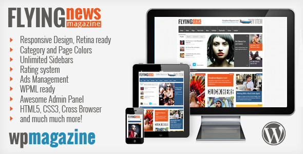 ThemeForest FlyingNews Responsive Wordpress Magazine 4052664