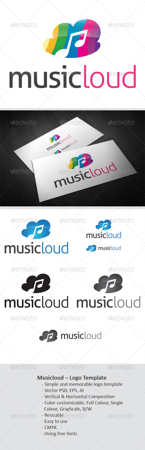 Musicloud - Objects Logo Templates