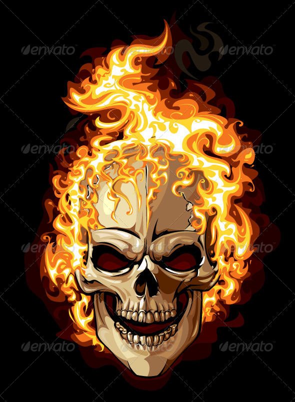 GraphicRiver Burning Skull 4075639