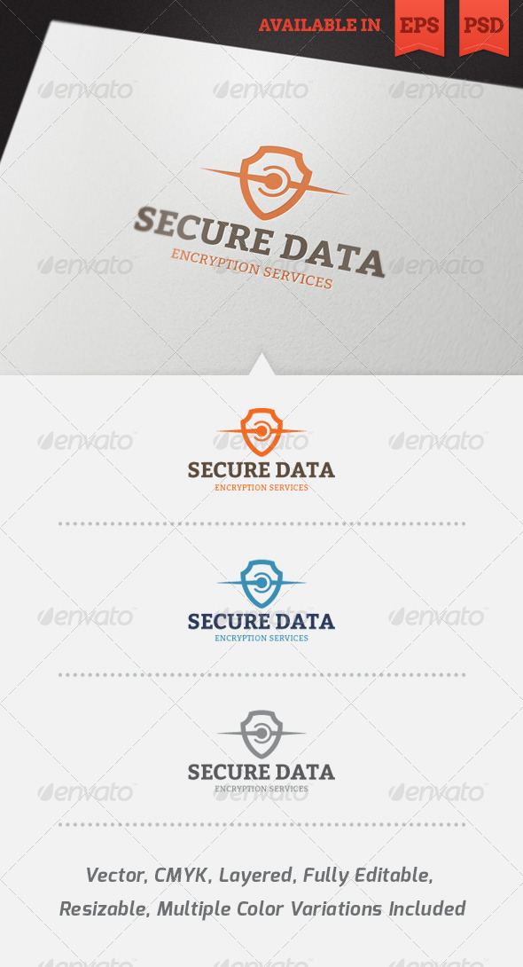 GraphicRiver Secure Data Logo Template 4075899