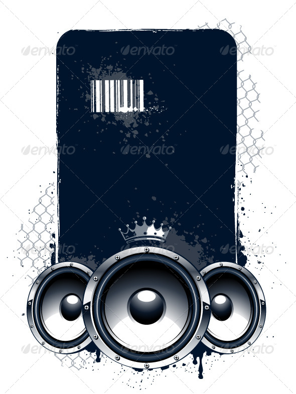 GraphicRiver Grunge Musical Banner 4075948