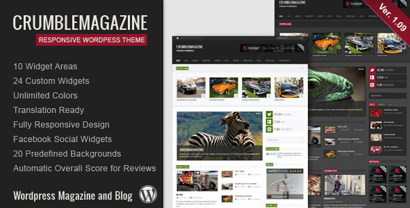 Crumble - Responsive Wordpress Magazine / Blog - Blog / Magazine WordPress