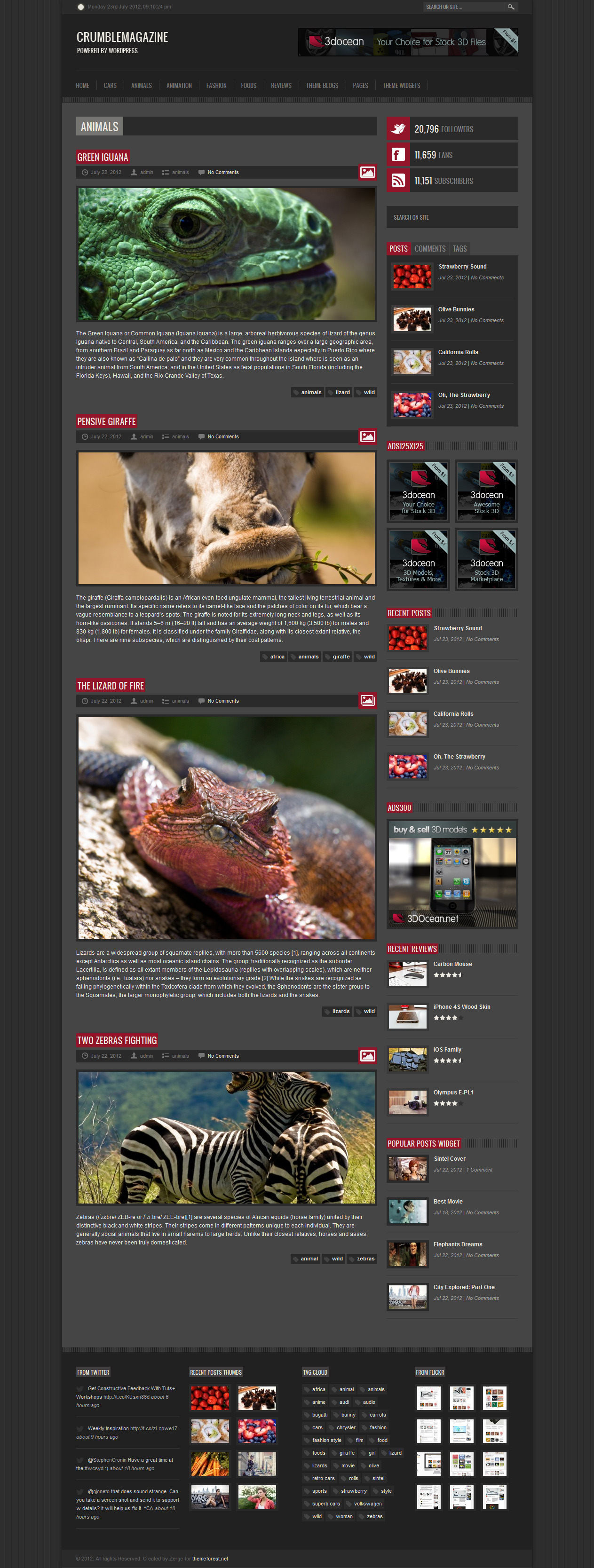 Crumble - Responsive Wordpress Magazine / Blog - Category Animals