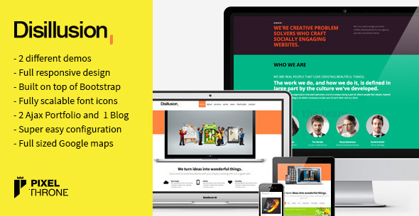 ThemeForest Disillusion > Responsive One Page WordPress Theme 4077030