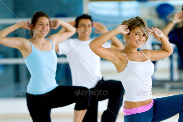 PhotoDune aerobics class in a gym 440881