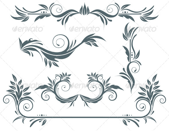 GraphicRiver Floral Decorative Elements 4077491