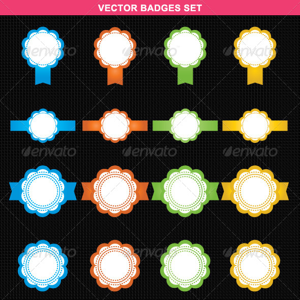 Abstract Vector Badges Set - Vectors