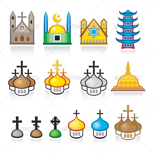 GraphicRiver Religious Temples and Worship Places 4079308