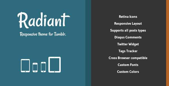 ThemeForest Radiant Responsive Theme for Tumblr 4079347