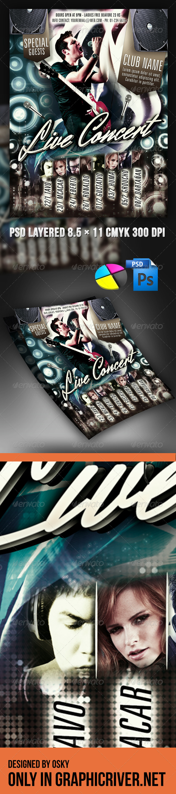 GraphicRiver Live Concert Flyer 4079766