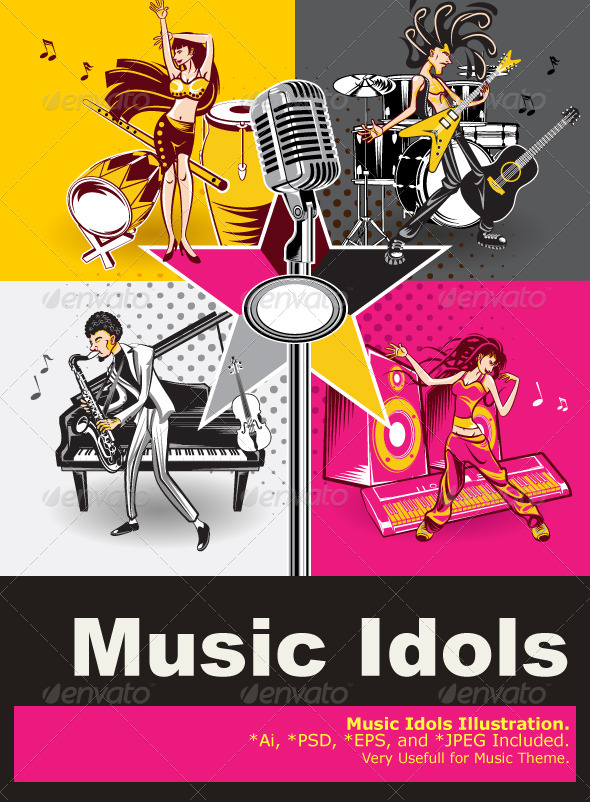 GraphicRiver Music Star Idols 4079947
