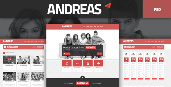 Andreas PSD Template